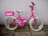 Kids Bike, Red, by Sparkle, Pink, 16 inch Wheels for Kids 5+ Years, JUST SERVICED / CHEAP PRICE!!!!!