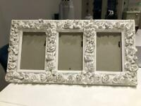 """3x Laura Ashley decorative picture frame for 4x6"""" pictures"""
