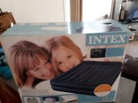 Brand New Intex Blow Up Queen Sized Double Bed with built_in Electric Pump