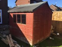 Garden Shed 8' x 8' Free to collect