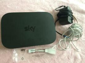 Sky Q Broadband Box with all wires