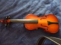 Small antique display violin 13in