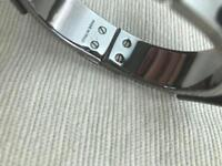 BURBERRY bracelet metallic leather