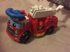 Mega Bloks Fire Engine and Car