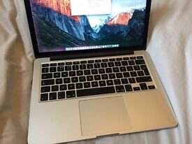 "MacBook Pro Retina 13"" (2014): Intel i7, 256SS, 8GB RAM, 1.5Gb Graphics Card, lines down screen"