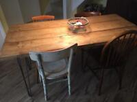 Modern Industrial/rustic dining table