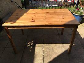Kitchen table - pine look 120cm x 75cm