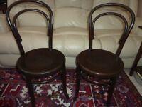 2 Antique Bentwood Fischel 1910s £40 Each Excellent Condition