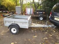 GALVANISED UNBRAKED GOODS TRAILER WITH 5FT A FRAME HITCH.....