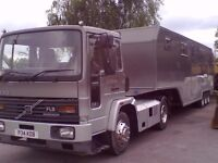 RV living trailer complete with tractor unit