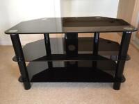 Dark glass TV stand