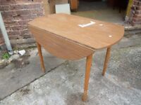 Drop Leaf Round Dining Table Delivery available lg