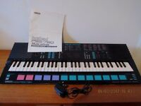 Yamaha Portasound Keyboard, excellent condition, instruction manual and adaptor