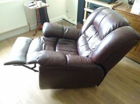 Leather recliner, rocking chair