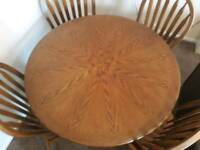 Lovely wooden solid dining table and chairs