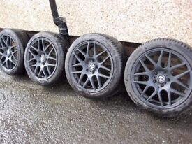 bmw 18 inch alloys new tyres 3,5 series