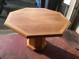 Solid Oak Octagonal Dining Table