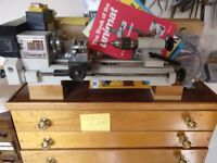 Unimat 3 lathe with extras