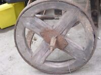 vintage wooden wheel barrow wheel for sale