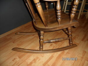 solid wood rocking chair Strathcona County Edmonton Area image 3
