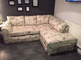 Next cream fabric corner sofa