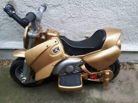 Boys electric motorbike