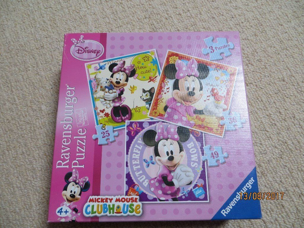 Box of 3 Minnie Mouse Jigsaw Puzzles