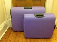 1 x LARGE 1x MEDIUM Lilac Carlton Hard Cases