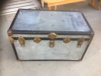 Large metal trunk