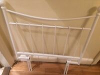 White, single bed headboard (bought from next)