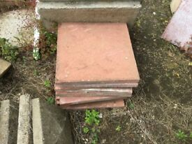 Reclaimed Red 450x450 Paving Slabs