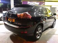 "2006 LEXUS RX400H-BLACK-HYBRID,18""ALLOYS,ELECTRIC HEATED LEATHER SEATS,MOT 23-01-2019,FULL LEATHER"