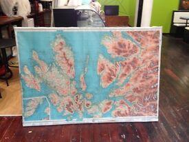Maps for shop decoration