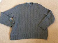 Men's grey Ralph Lauren jumper XXL never worn