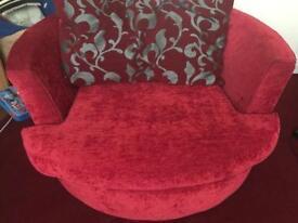 Swivel, cuddle chair