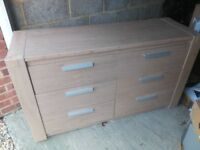 Chest of drawers with few scratches for sale. In good condition, has not been used for 5 years.