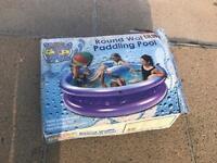 Large Round Waffle Paddling Pool