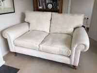 Laura Ashley Kingston Sofa Two seater in Ashino Natural Fabric