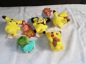 Pokemon Small Soft Plush Toys Pikachu Bulbasaur etc £2 each