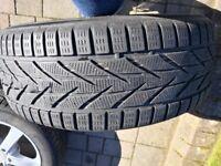 Set of 4 17 inch Dezent Alloy wheels with Toyo Snowprox winter tyres