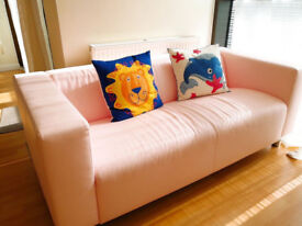 3 Seats Pink Used Modern Comfortable Sofa