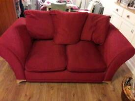 Sofa 2 seater and 3 seater Red - may split