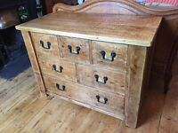 Rustic Chest of Drawers - Solid Wood
