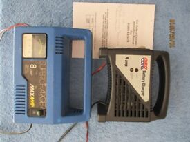 Two car 12v battery chargers. Good condition.
