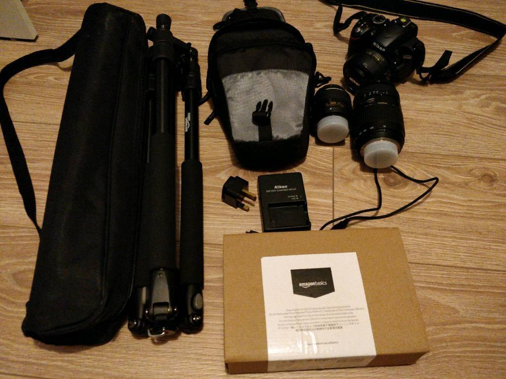 Nikon D3200 Tripod Case Cleaning Kit 18 55mm 35mm 70 300mm 7 In 1 Lewis