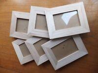 Brand New Six Plain Wooden Photoframes
