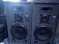 Pair Audio Tech PA Speakers 250 Watts by 2