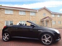 12 MONTH WARRANTY! (09) VAUXHALL TIGRA 1.4 EXCLUSIV- BLACK- HARD TOP- FULL LEATHER- GENUINE 39K-FVSH