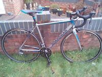A very nice New Condition. Light weight Boardman Sport Road Bike. Carbon forks. 51.5 cm.