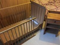 Ikea cot/bed & bedside table